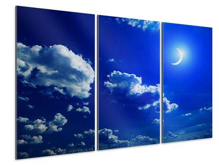 Aluminiumbild 3-teilig Der Mond