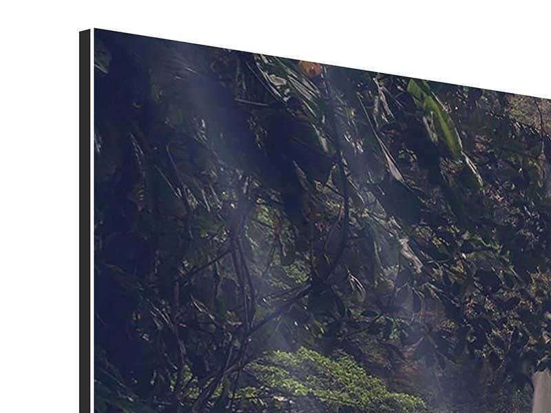 Aluminiumbild 3-teilig Wasserfall in Mexiko