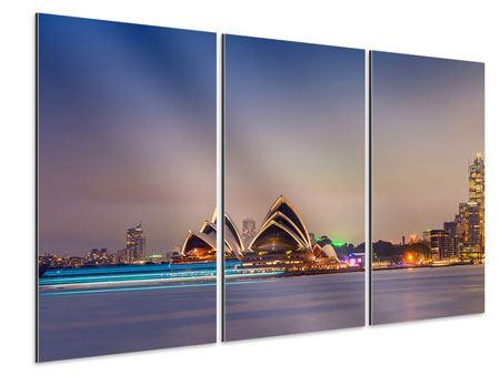 Aluminiumbild 3-teilig Opera House