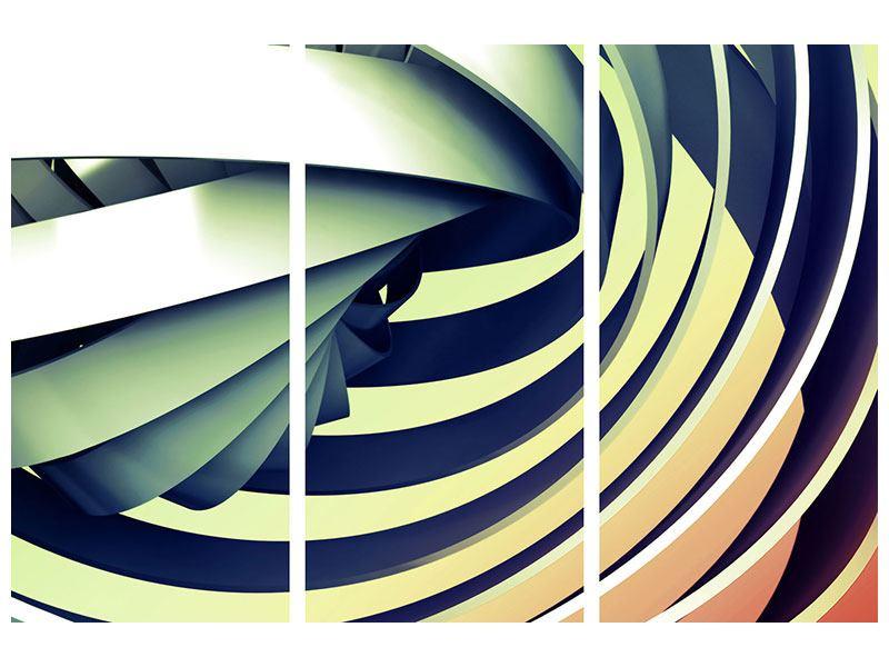 Aluminiumbild 3-teilig Abstrakte Perspektiven