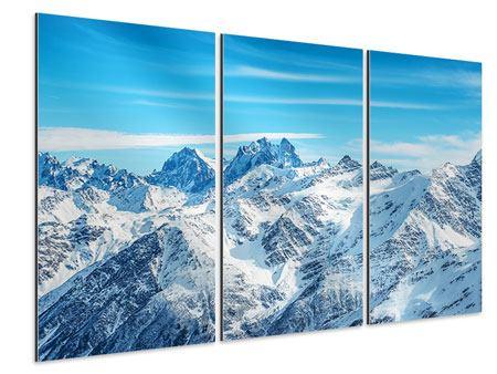 Aluminiumbild 3-teilig Alpenpanorama