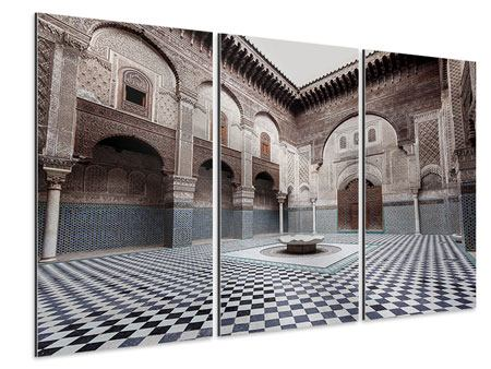 Aluminiumbild 3-teilig Orientalischer Hinterhof