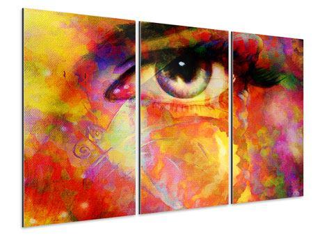 Aluminiumbild 3-teilig Das Auge