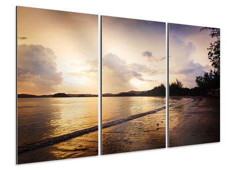 Aluminiumbild 3-teilig Das Ufer