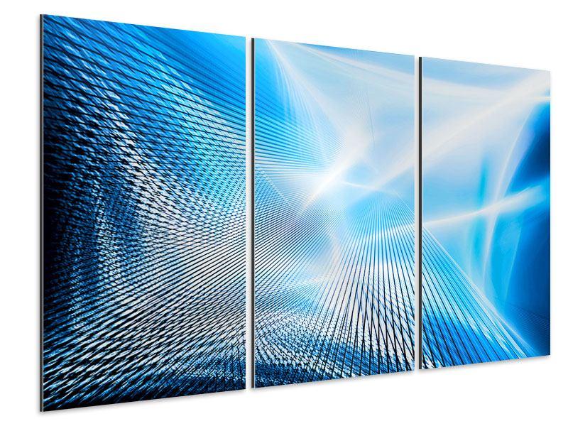 Aluminiumbild 3-teilig Laser