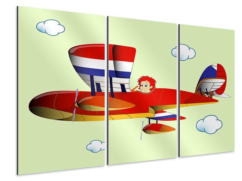 Aluminiumbild 3-teilig Der fliegende Junge
