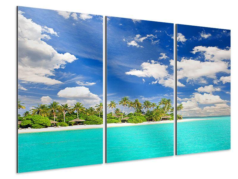 Aluminiumbild 3-teilig Meine Insel