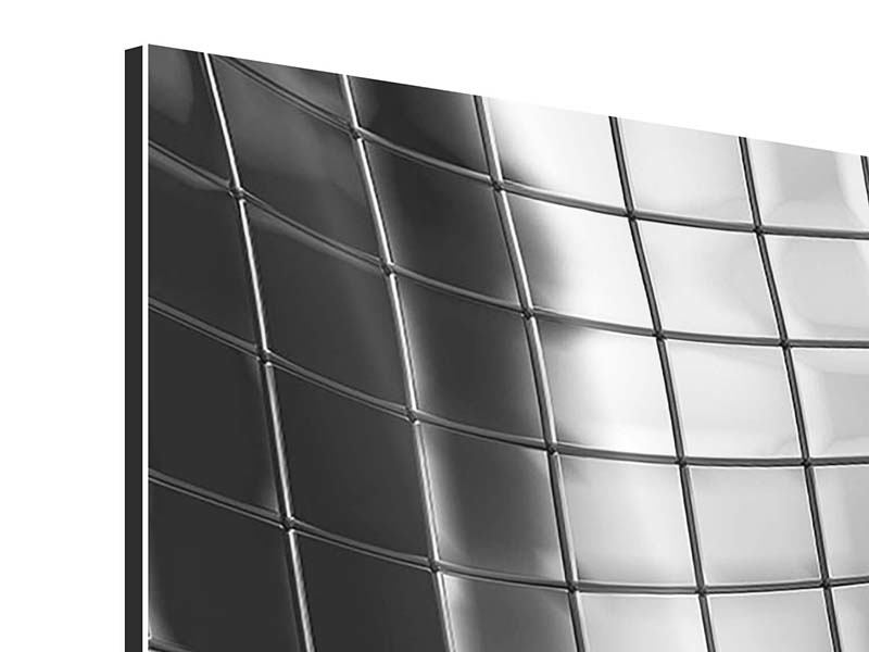 Aluminiumbild 3-teilig Abstrakter Stahl