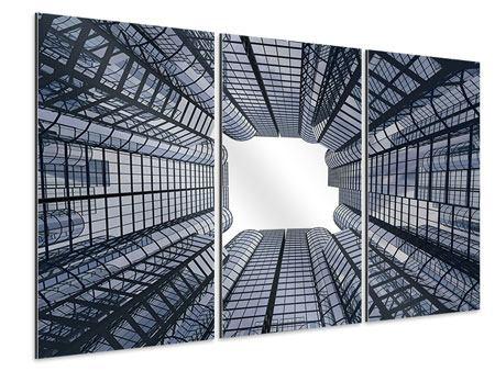 Aluminiumbild 3-teilig Besondere Perspektive