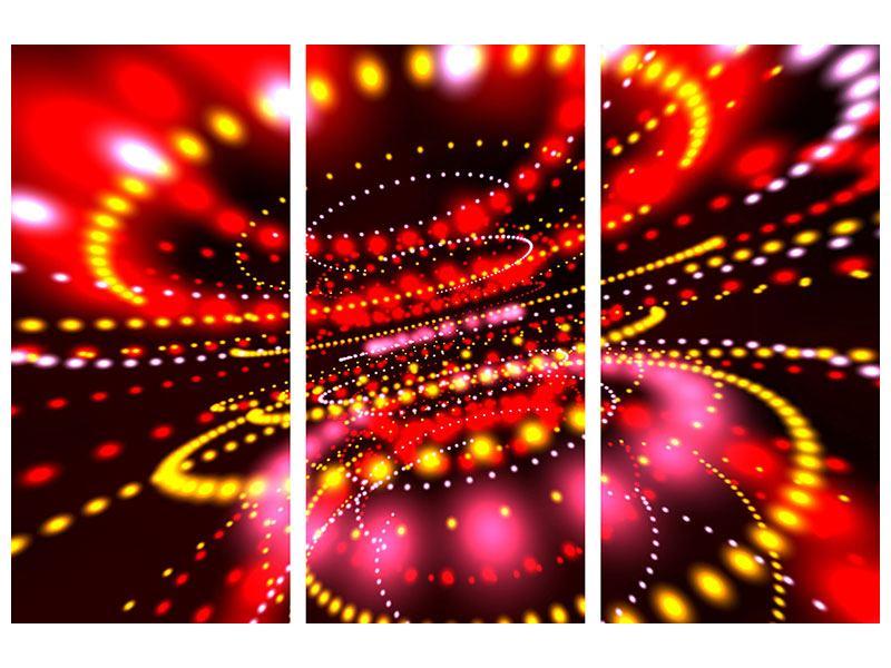 Aluminiumbild 3-teilig Abstraktes Lichtspiel