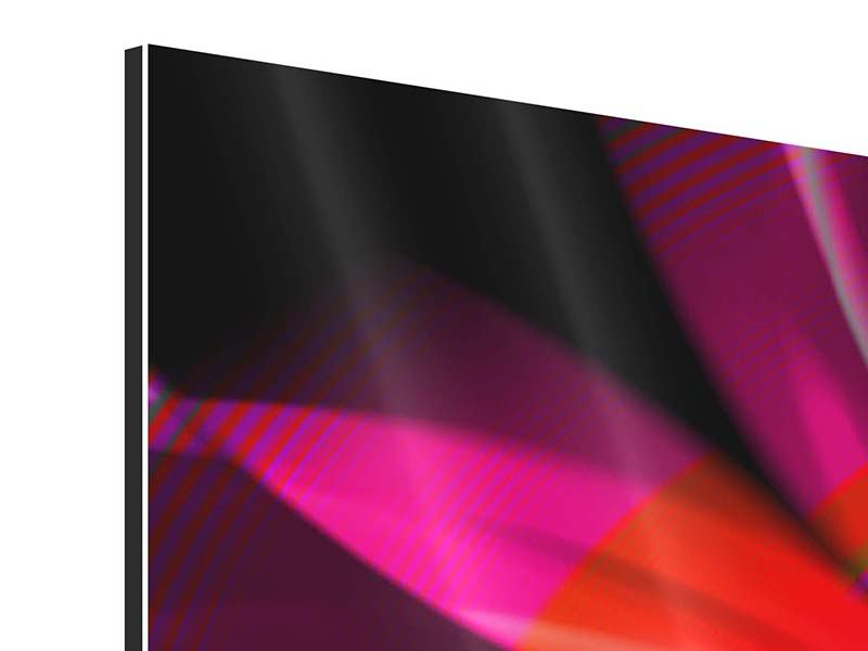 Aluminiumbild 3-teilig Abstrakt Flower Power