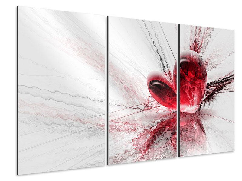 Aluminiumbild 3-teilig Herzspiegelung