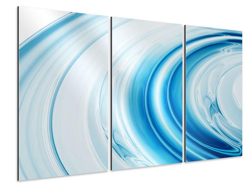 Aluminiumbild 3-teilig Abstraktes Glas