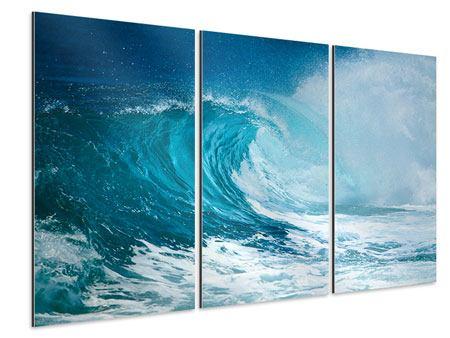 Aluminiumbild 3-teilig Die perfekte Welle