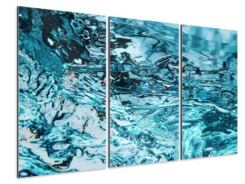 Aluminiumbild 3-teilig Schönheit Wasser