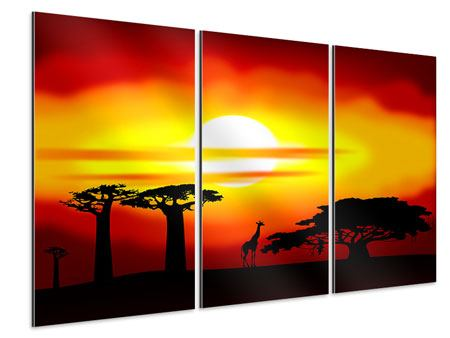 Aluminiumbild 3-teilig Faszination Afrika