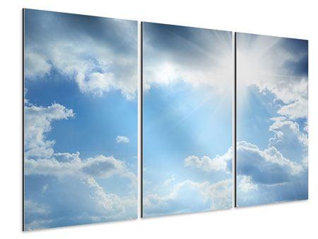Aluminiumbild 3-teilig Himmelshoffnung