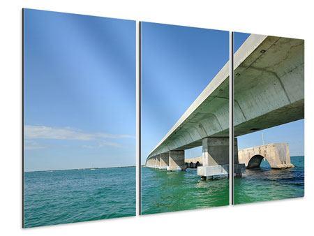 Aluminiumbild 3-teilig Seven Mile Bridge