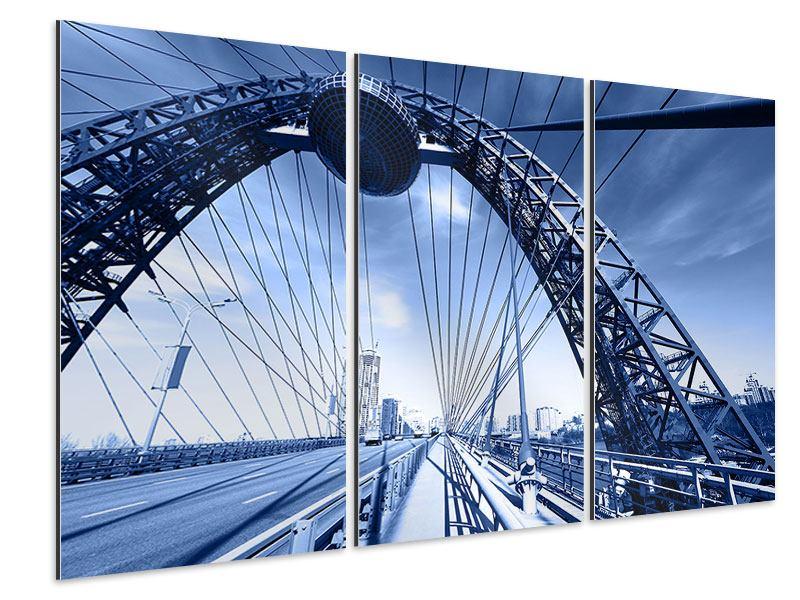 Aluminiumbild 3-teilig Schiwopisny-Brücke