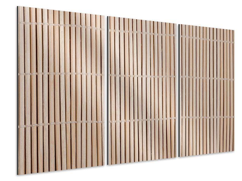 Aluminiumbild 3-teilig Lucky Bamboo