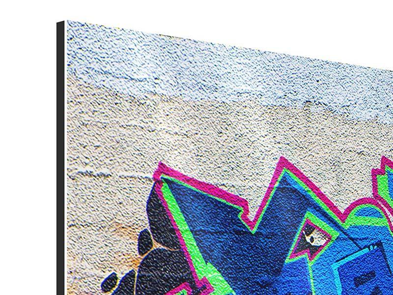 Aluminiumbild 3-teilig Graffiti NYC