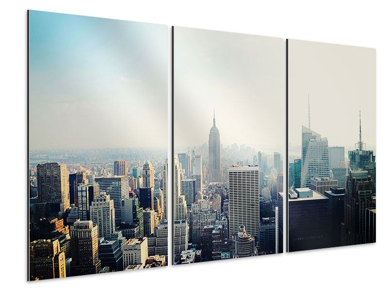 Aluminiumbild 3-teilig NYC