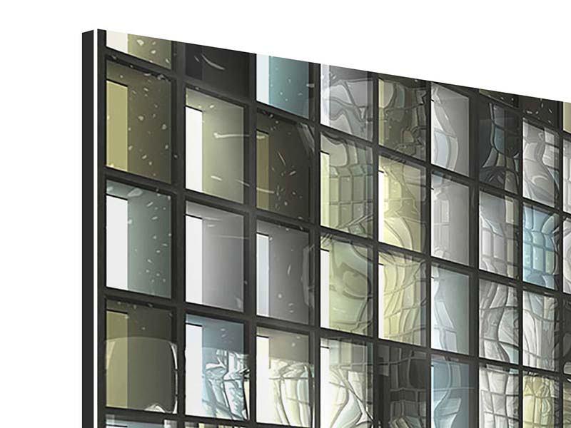 Aluminiumbild 3-teilig Windows