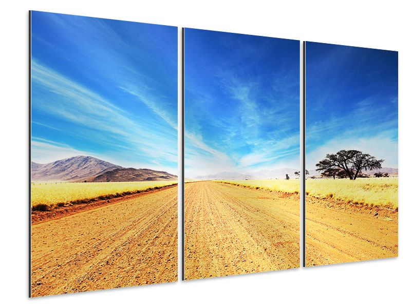 Aluminiumbild 3-teilig Eine Landschaft in Afrika