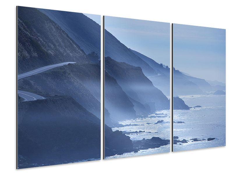 Aluminiumbild 3-teilig Bewegung im Wasser