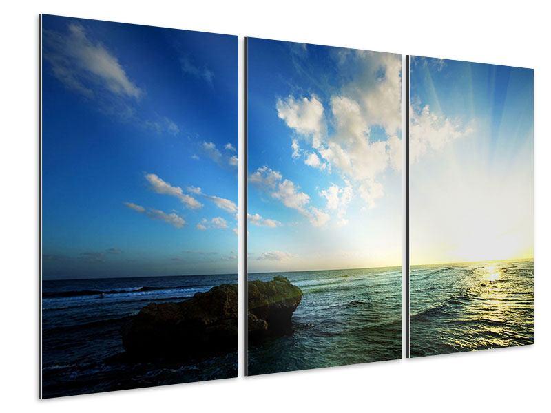 Aluminiumbild 3-teilig Die See