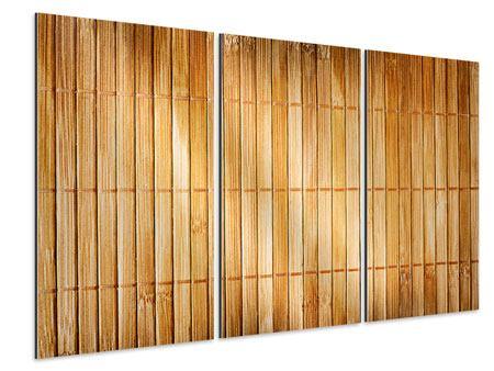 Aluminiumbild 3-teilig Bambusrohre