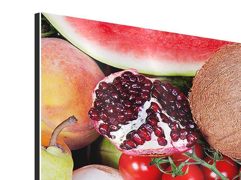 Aluminiumbild 3-teilig Frisches Obst