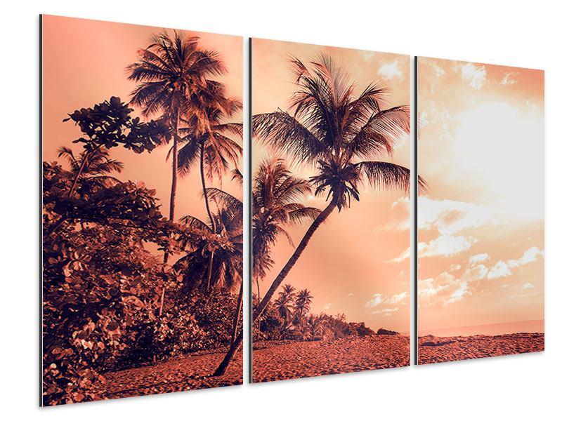Aluminiumbild 3-teilig Tropenparadies