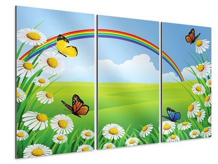 Aluminiumbild 3-teilig Der bunte Regenbogen