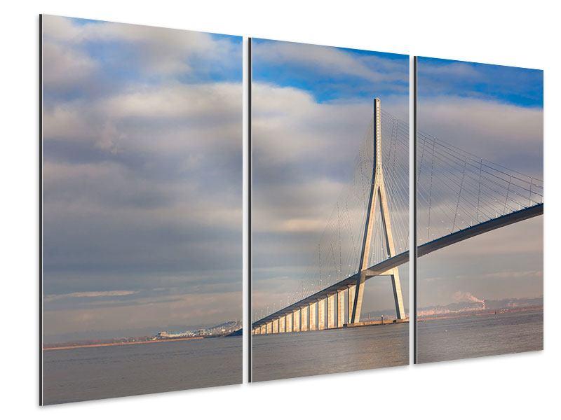 Aluminiumbild 3-teilig Pont de Normandie