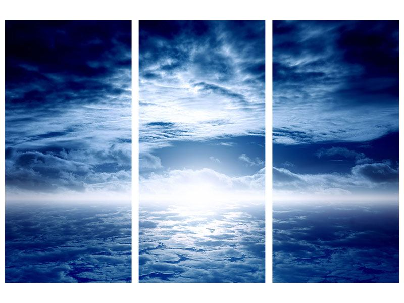 Aluminiumbild 3-teilig Mystischer Himmel