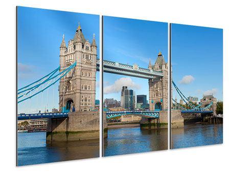Aluminiumbild 3-teilig Die Tower Bridge