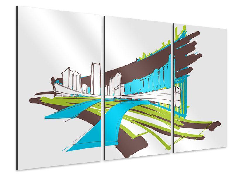Aluminiumbild 3-teilig Graffiti Street-Art