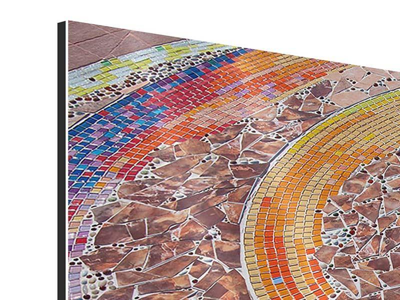 Aluminiumbild 3-teilig Mosaik