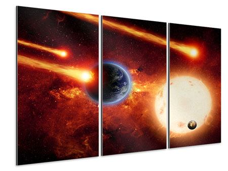 Aluminiumbild 3-teilig Der Kosmos