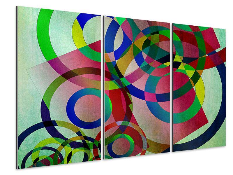 Aluminiumbild 3-teilig Wandkunst