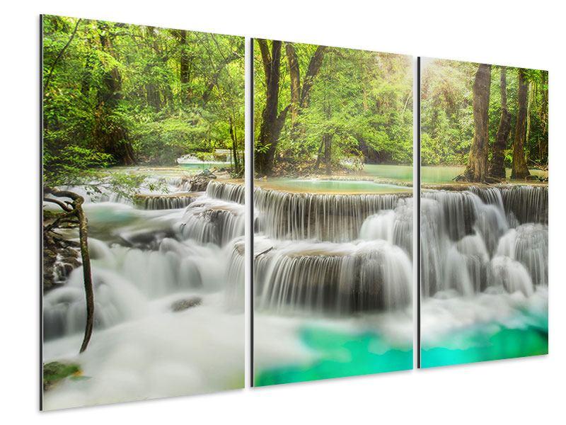 Aluminiumbild 3-teilig Erawan