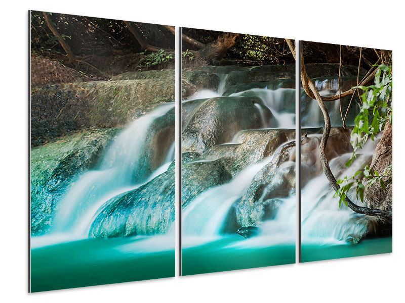 Aluminiumbild 3-teilig Am Fluss des Lebens