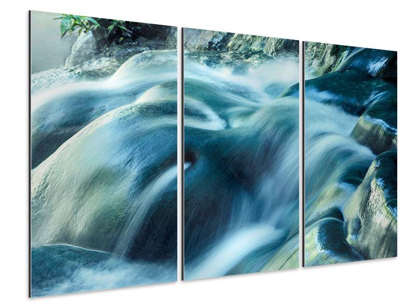 Aluminiumbild 3-teilig Das Fliessende Wasser