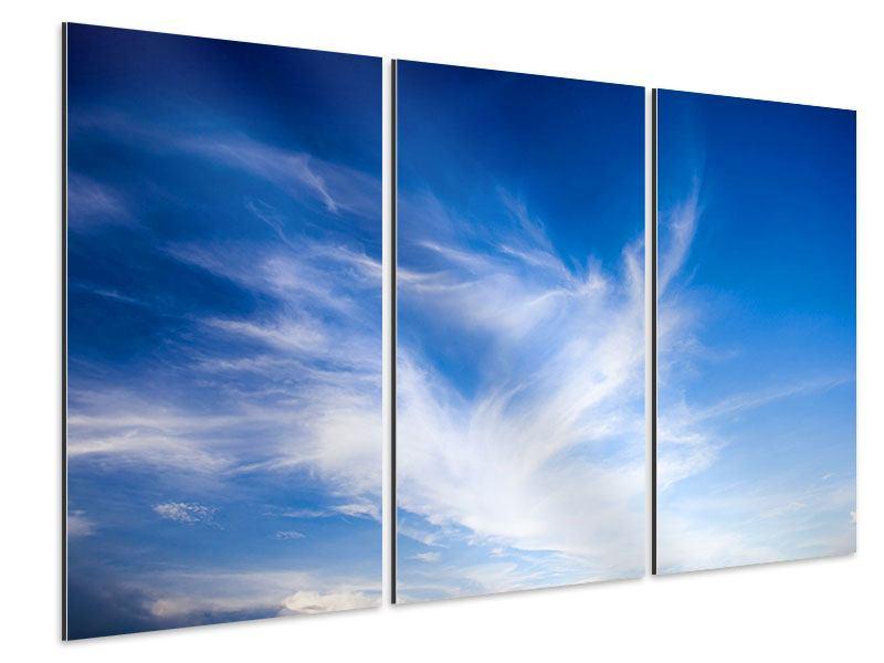 Aluminiumbild 3-teilig Schleierwolken