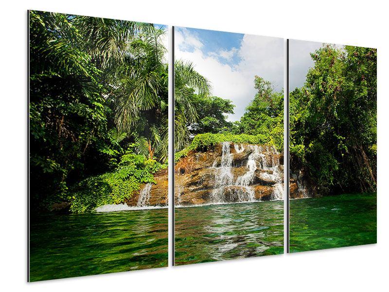 Aluminiumbild 3-teilig Lagune