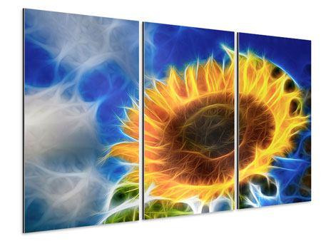 Aluminiumbild 3-teilig Der Sonne entgegen
