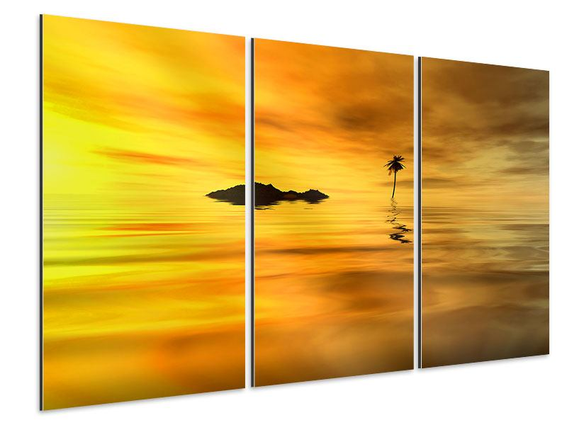 Aluminiumbild 3-teilig Ab auf die Insel