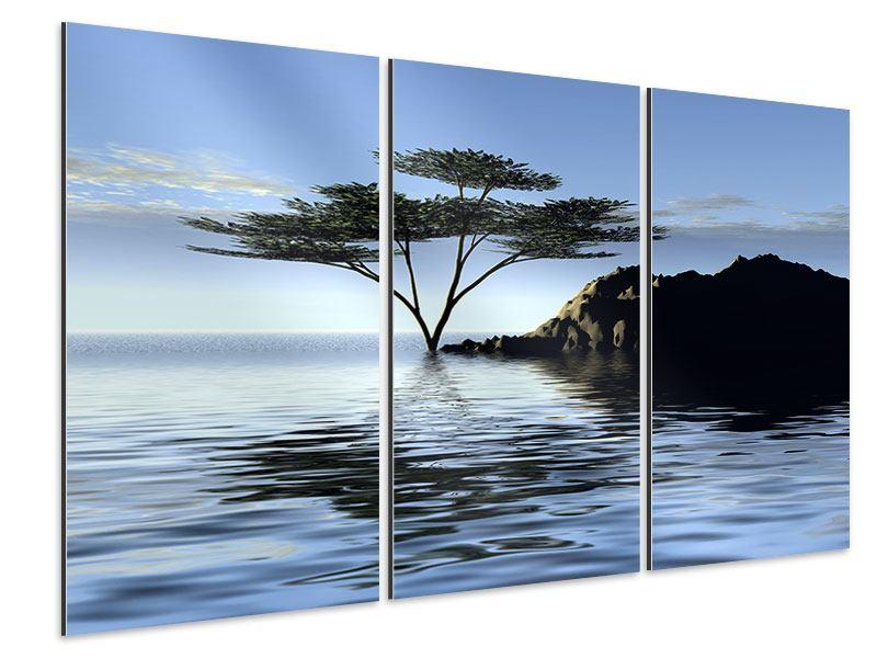 Aluminiumbild 3-teilig Naturfaszination
