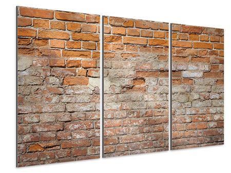 Aluminiumbild 3-teilig Alte Klagemauer